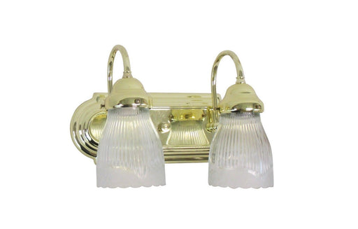 Designers Fountain B102PB-G112 Two Light Bath Vanity Light in Polished Brass Finish