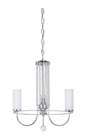 Craftmade Lighting 40623 CH Cascade Collection Three Light Hanging Chandelier in Polished Chrome Finish