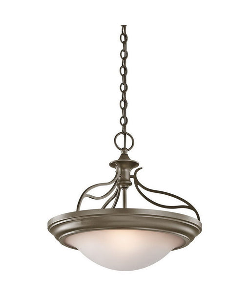 Aztec 38912 by Kichler Lighting Two Light Convertible Semi Flush Ceiling or Hanging Pendant Chandelier in Shadow Bronze Finish - Quality Discount Lighting