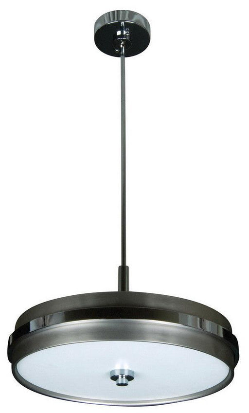 Craftmade Lighting 9519BNCH4 5th Avenue Collection Four Light Hanging Pendant Chandelier in Brushed Satin Nickel and Chrome Finish