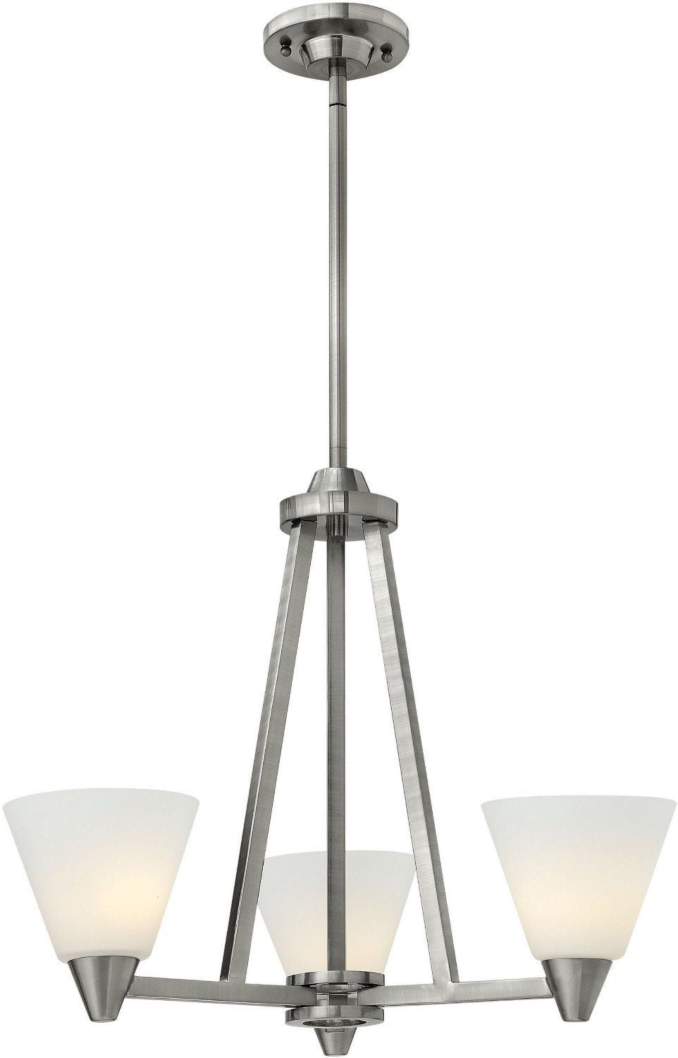 Hinkley lighting 3663 bn dillon collection three light hanging hinkley lighting 3663 bn dillon collection three light hanging chandelier in brushed nickel finish discount arubaitofo Gallery