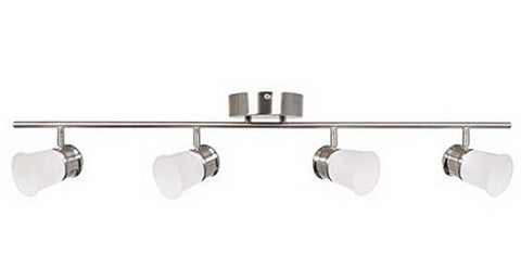 AFX SENF4400L30SN Four Light Integrated LED Ceiling or  Wall Track in Satin Nickel Finish