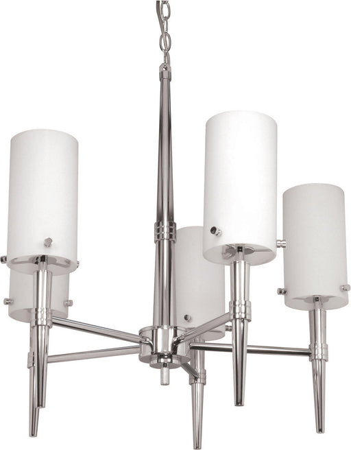 Nuvo Lighting 60-1066 Jet Collection Five Light Chandelier in Polished Chrome Finish - Quality Discount Lighting