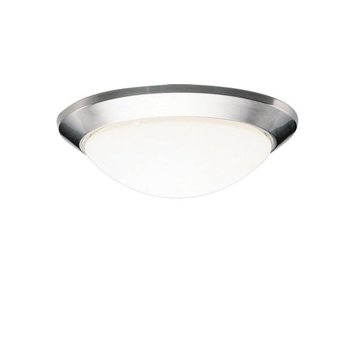 Rainbow Lighting R181-NI One Light Brushed Nickel Flush Mount Ceiling