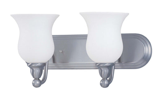 Nuvo Lighting 60-2568 Glenwood Collection Two Light Energy Star Rated GU24 Fluorescent Bath Vanity Wall Mount in Brushed Nickel Finish - Quality Discount Lighting
