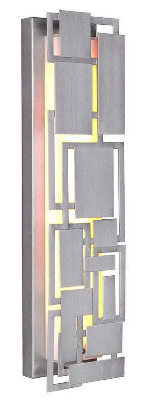 Craftmade Lighting 13722CM-LED Oak Park Collection 22 Inch LED Wall Sconce in Chromite Finish