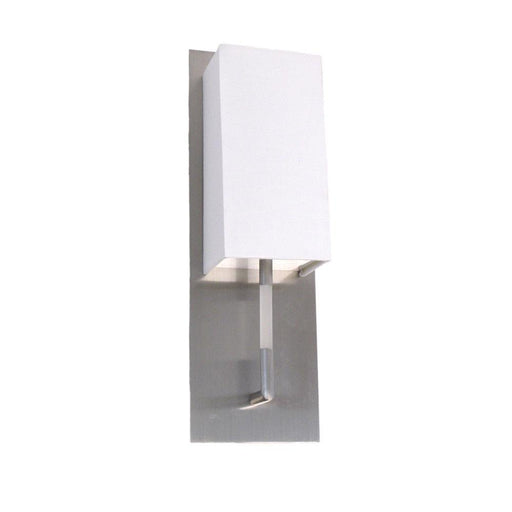 Oxygen Lighting 2-598-24 One Light Epoch Collection Fluorescent Wall Sconce in Satin Nickel Finish