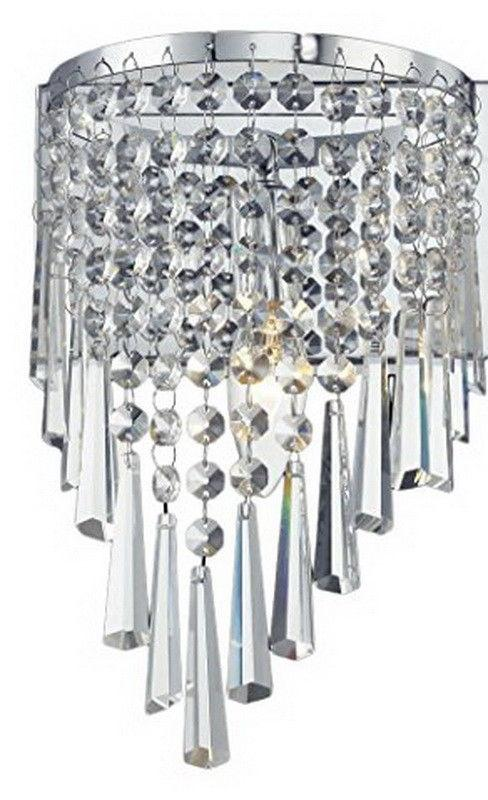 Z-Lite Lighting 868CH-1S Tango Collection One Light Wall Sconce in Polished Chrome Finish