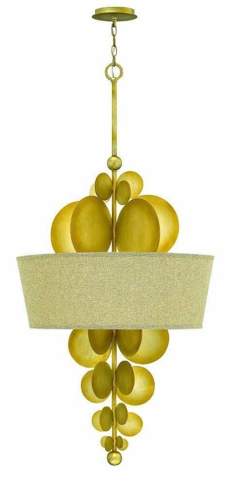 Hinkley Lighting Fredrick Ramond FR31246 SPG Barolo Collection Five Light Hanging Pendant Chandelier in Spanish Gold Finish - Quality Discount Lighting