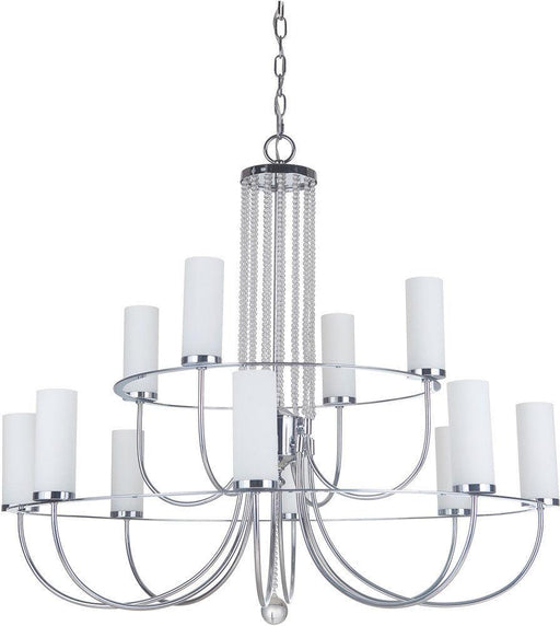 Craftmade Lighting 40612 CH Cascade Collection Twelve Light  Hanging Chandelier in Polished Chrome Finish