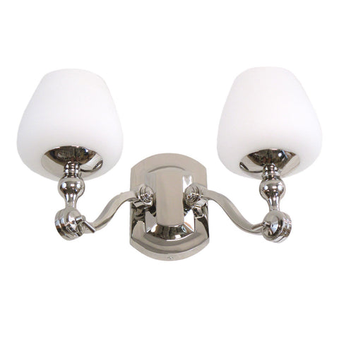 Kalco Lighting 8242 PN Monique Collection Two Light Bath Vanity Wall Mount in Polished Nickel Finish - Quality Discount Lighting