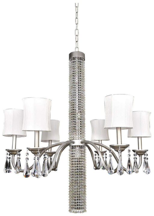 Kalco Lighting 023052-002-FR001 Albertina Collection Eleven Light Hanging Chandelier in Aged Silver Finish