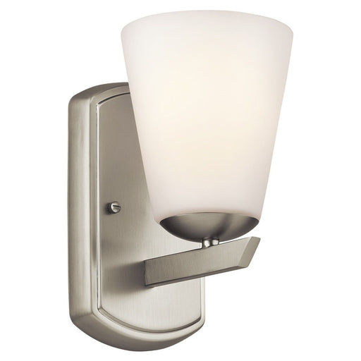 Aztec 37936 by Kichler Lighting Corison Collection One Light Wall Sconce in Brushed Nickel Finish