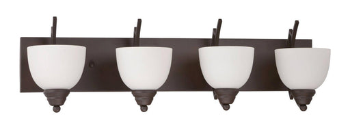 Sunset Lighting F15094-47 Chester Collection Four Light Bath Vanity Wall Fixture in Rustico Bronze Finish - Quality Discount Lighting