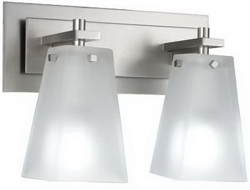 Kalco Lighting 4452 SN Pasadena Collection Two Light Bath Wall Mount in Satin NIckel Finish - Quality Discount Lighting