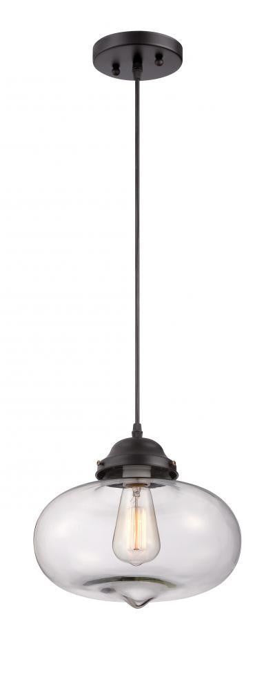 Sunset Lighting F3591-31 Edana Collection One Light Mini Hanging Pendant in Black Finish - Quality Discount Lighting