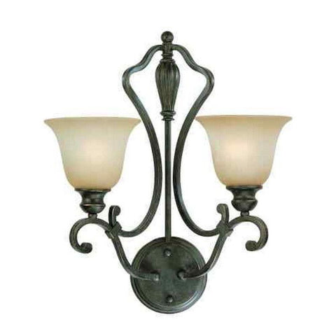 Craftmade Lighting 24132 ET Old Burlington Collection Two Light Wall Sconce in English Toffee Finish