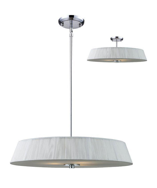 Z-Lite Lighting 162-24W-C Three Light Pendant Chandelier or Semi Flush Ceiling Mount in Brushed Chrome Finish
