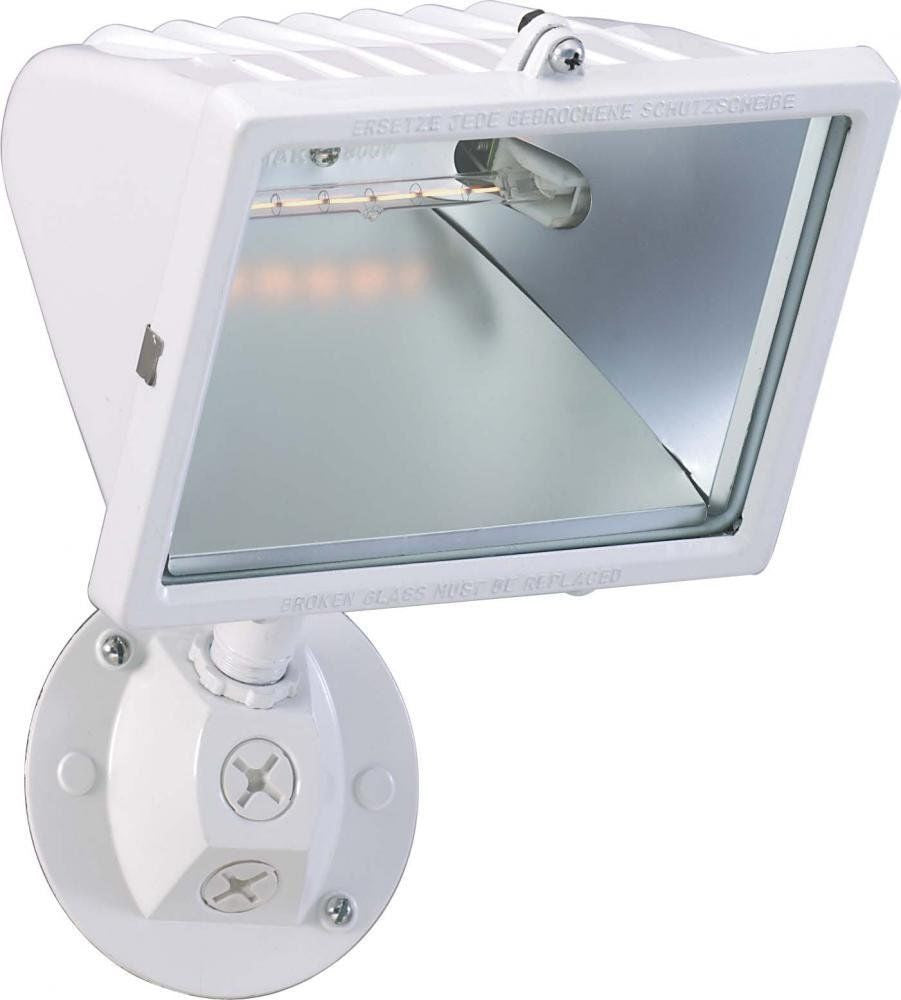 Nuvo Lighting 76 514 One Light Exterior Outdoor Halogen Flood In White Finish