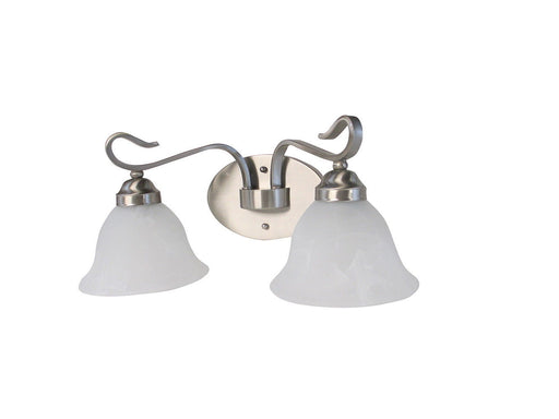 Rainbow EVER 1602 BN Two Light Bath Vanity Wall Mount in Brushed Nickel Finish