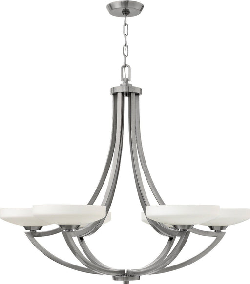 Hinkley Lighting 3966PL Darien Collection Six Light Hanging Chandelier in Polished Antique Nickel Finish - Discount Lighting Fixtures