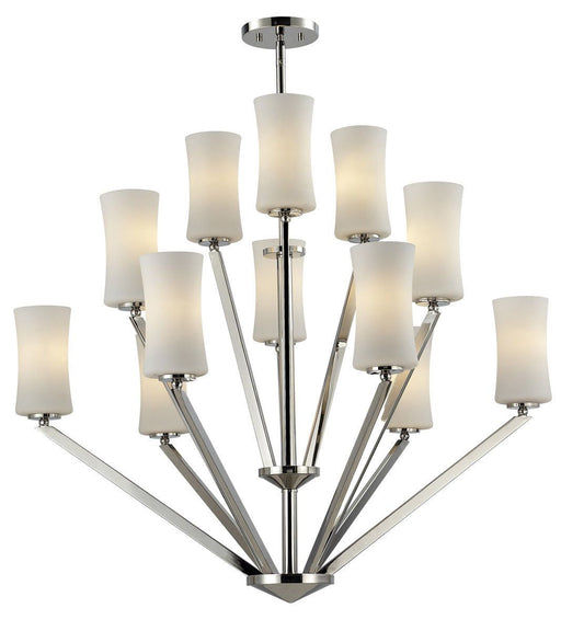 Z-Lite Lighting 608-12-CH Elite Collection Twelve Light Hanging Chandelier in Chrome Finish