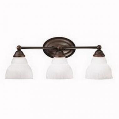 Kichler Lighting 5212 OZ Park View Collection Three Light Bath Wall Fixture in Olde Bronze Finish - Quality Discount Lighting