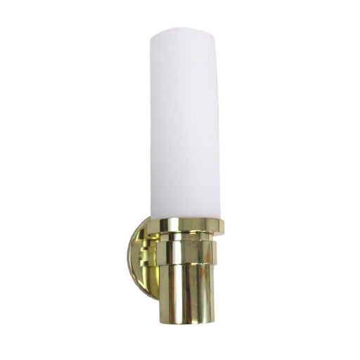 Oxygen Lighting 2-5124-102 One Light Pebble Collection Energy Efficient Fluorescent Wall Sconce in Polished Brass Finish