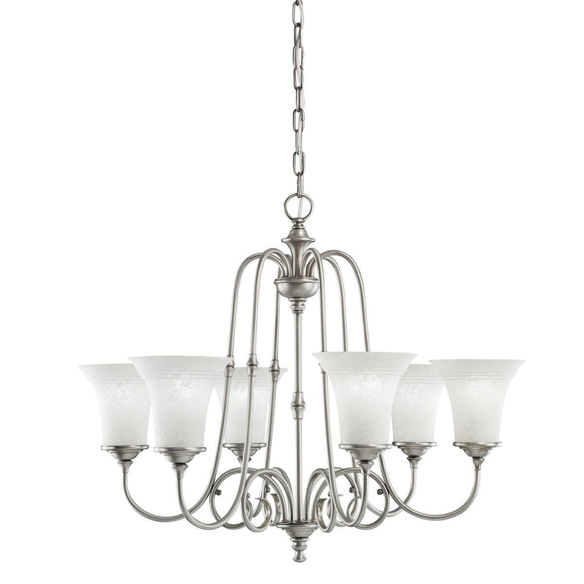 Aztec by Kichler Lighting 34929 Six Light Northampton Collection Hanging  Chandelier in Antique Pewter Finish - - Aztec By Kichler Lighting 34929 Six Light Northampton Collection