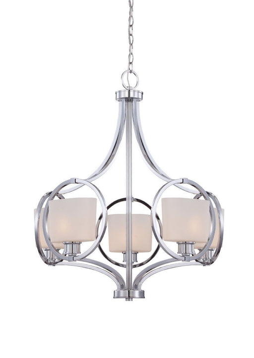 Designers Fountain Lighting 84085-CH Mirage Collection Five Light Hanging Chandelier in Polished Chrome Finish