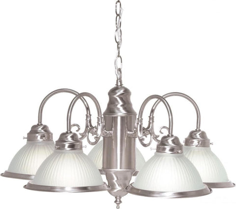 Rainbow Lighting SF76-695 Signature Collection Five Light Chandelier in Brushed Nickel Finish - Discount Lighting Fixtures
