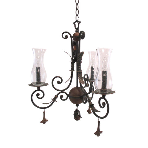 Kalco Lighting 2748 AC Bilston Collection Three Light Chandelier in Antique Copper Finish - Quality Discount Lighting