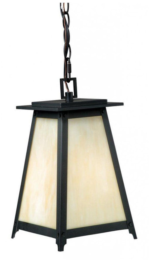 Vaxcel Lighting T0024 Prairieview Collection One Light Outdoor Exterior Hanging Lantern in Oil Rubbed Bronze Finish - Quality Discount Lighting