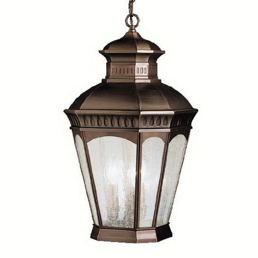 Aztec 39912 By Kichler Lighting Elgin Collection Three Light Outdoor Hanging Lantern in Burnished Bronze Finish - Quality Discount Lighting