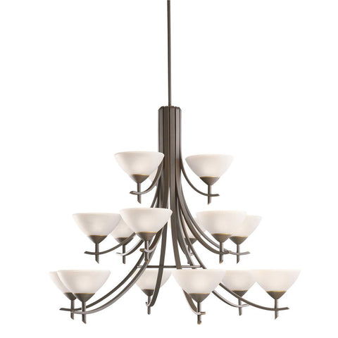 Kichler Lighting 1681 OZW Olympia Collection Fifteen Light Chandelier in Olde Bronze Finish