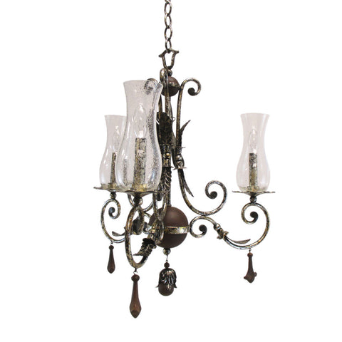 Kalco Lighting 2748 AF Bilston Collection Three Light Chandelier in Antique Silver Leaf Finish - Quality Discount Lighting