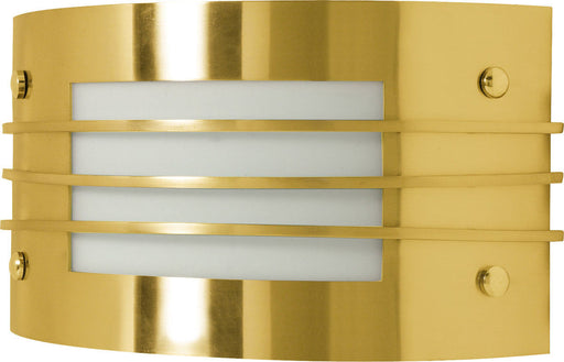 Nuvo Lighting 60-937 One Light Energy Star Efficient GU24 Fluorescent Wall Sconce in Polished Brass Finish - Quality Discount Lighting