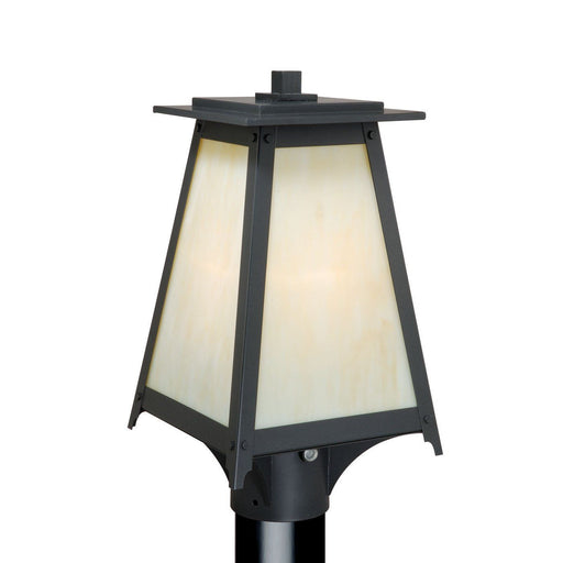 Vaxcel Lighting T0022 Prairieview Collection One Light Outdoor Exterior  Post Lantern In Oil Rubbed Bronze Finish