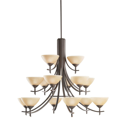 Kichler Lighting 1681 OZ Olympia Collection Fifteen Light Chandelier in Olde Bronze Finish