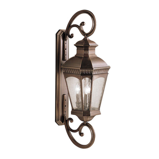 Aztec 39911 By Kichler Lighting Elgin Collection Three Light Outdoor Wall Lantern in Burnished Bronze Finish - Quality Discount Lighting