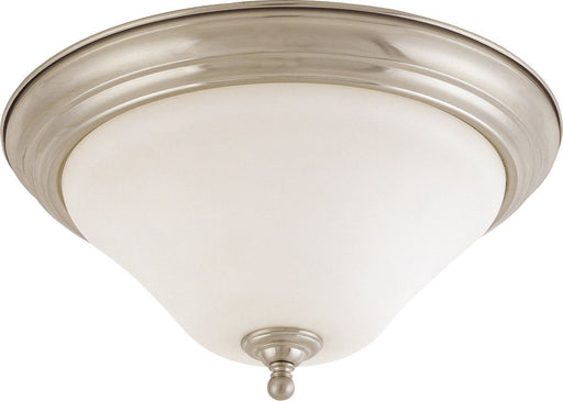 Nuvo Lighting 60-41906 Dupont Collection Two Light Energy Star Efficient LED GU24 Flush Ceiling Mount  in Brushed Nickel Finish