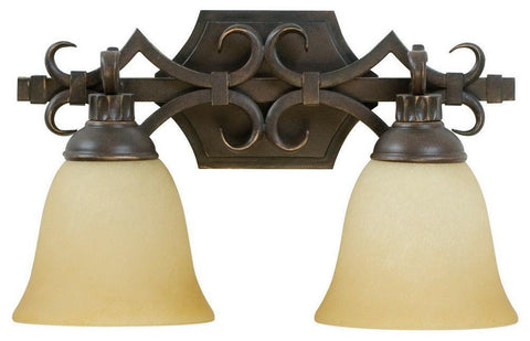Craftmade Lighting 10915 AG2 Two Light Bath Vanity Wall Mount in Aged Bronze Finish