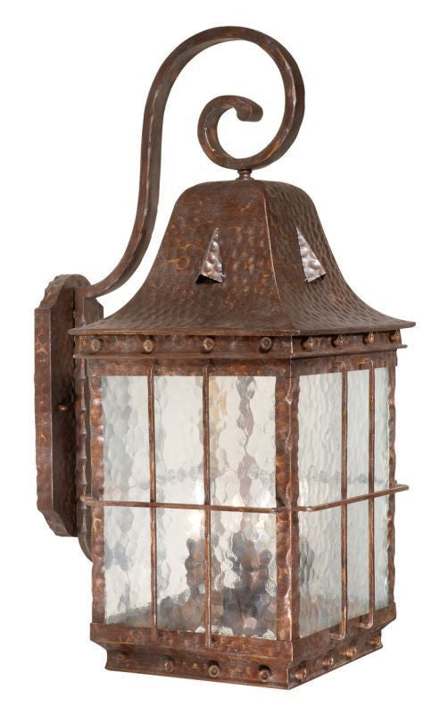 Vaxcel Lighting ED-OWD110 CI Edinburgh Collection Four Light Outdoor Exterior Wall Lantern in Colonial Iron Finish - Quality Discount Lighting