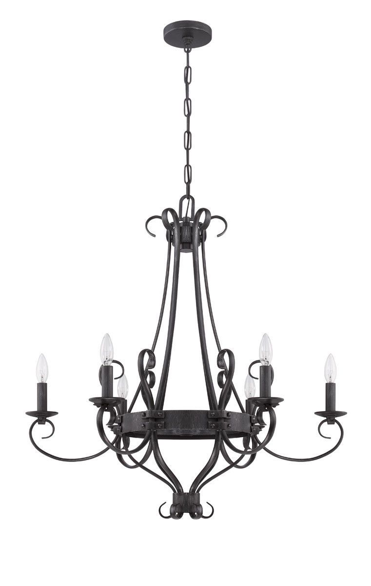 Craftmade lighting 37926 chl ellsworth collection six light craftmade lighting 37926 chl ellsworth collection six light chandelier in charcoal finish arubaitofo Choice Image