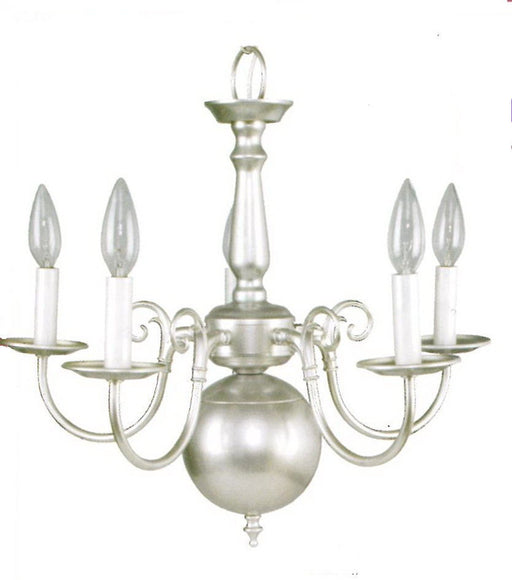 Leadco Lighting 1211 SLM Five Light Chandelier in Silver Mist Finish - Quality Discount Lighting