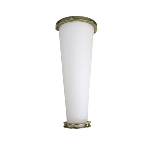 Oxygen Lighting 2-581-130 One Light Energy Efficient Fluorescent Wall Sconce in Satin Brass Finish - Discount Lighting Fixtures