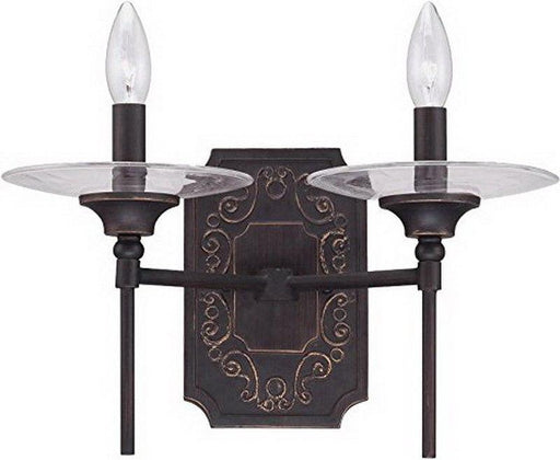 Craftmade Lighting 36362 ABZG Amsden Collection Two Light Wall Sconce in Aged Bronze Finish