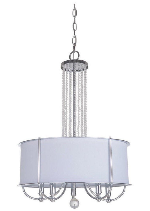 Craftmade Lighting 40695 CH Cascade Collection Five Light Hanging Pendant Chandelier in Polished Chrome Finish