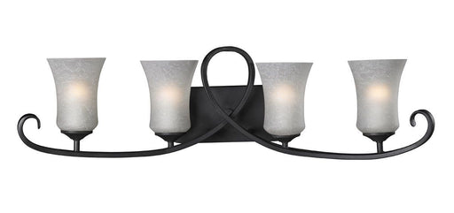 Z-Lite Lighting 603-4V Arshe Collection Four Light Bath Vanity Wall Mount in Café Bronze Finish