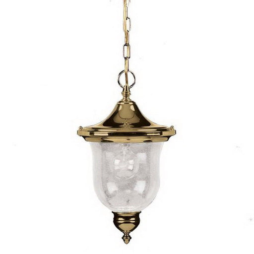 Aztec by Kichler Lighting 39022 PB One Light Sturbridge Collection Exterior Outdoor Hanging Top Lantern in Polished Brass Finish - Quality Discount Lighting